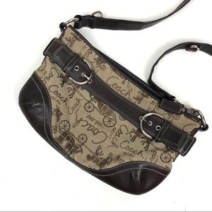 Coach Printed Brown Logo Crossbody Purse